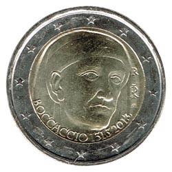 Italia 2013 2 Euros Boccaccio S/C