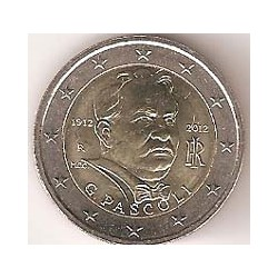 Italia 2012 2 Euros Giovanni Pascoli S/C