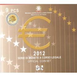 Italia 2012 Cartera Oficial 9 Valores S/C