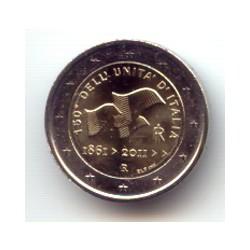 Italia 2011 2 Euros 150 Aniv. Unidad de Italia S/C