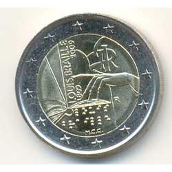 Italia 2009 2 Euros Braille S/C