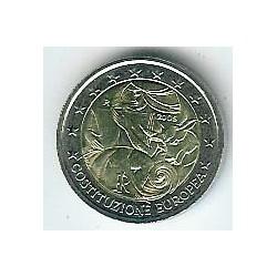 Italia 2005 2 Euros Constitución Europea S/C