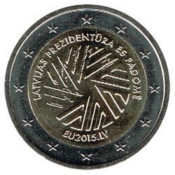 Letonia 2015 2 Euros Presidencia de la UE S/C