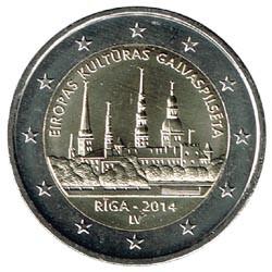 Letonia 2014 2 Euros Riga S/C