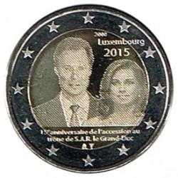 Luxemburgo 2015 2 euros 15 Aniv. Ascensión al Trono S/C