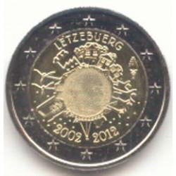 Luxemburgo 2012 2 Euros 10 Años de Circulación del Euro S/C