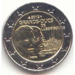 Luxemburgo 2012 2 Euros 100 Aniv. muerte Gran Duque Guillermo IV S/C
