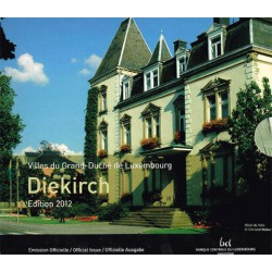 Luxemburgo 2012 Cartera Oficial Con 3 de 2 euros. S/C