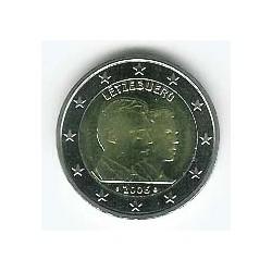 Luxemburgo 2006 2 Euros 25 Cumpleaños Gran Duque Guillermo S/C