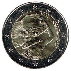 Malta 2014 2 Euros 50º Aniv. Independencia S/C