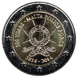 Malta 2014 2 Euros 200º Aniv. de la Policía S/C