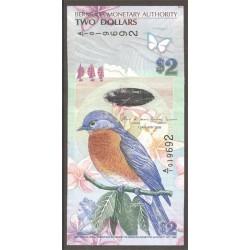 Bermuda 2 Dólares PK Nuevo (1-1-2.009)