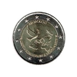 Mónaco 2013 2 Euros 20 Aniv. Admisión en la ONU S/C