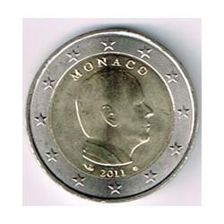 Mónaco 2011 2 Euros Príncipe Alberto. S/C