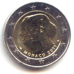 Mónaco 2011 2 Euros Boda. Sin Estuche S/C