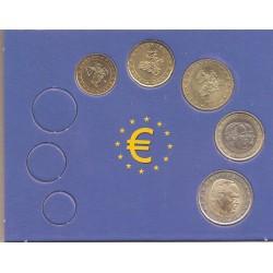 Mónaco 2003 Tira 5 valores 10,20 y 50 Céntimos. 1 y 2 euros S/C