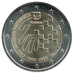 Portugal 2015 2 Euros Cruz Roja Portuguesa S/C