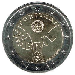 Portugal 2014 2 Euros 25 de Abril S/C