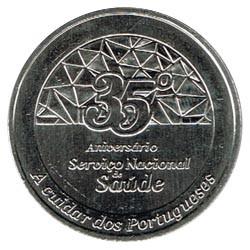 Portugal 2014 2´5 Euros 35 Aniv. S Nacional de Salud S/C