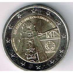 Portugal 2013 2 Euros Torre de los clérigos S/C