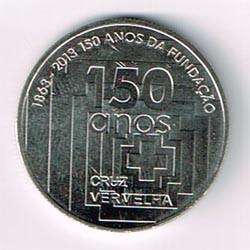 Portugal 2013 2´5 Euros 150 Aniv. Cruz Roja S/C