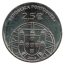 Portugal 2013 2´5 Euros 100 años del submarino Espadarte S/C