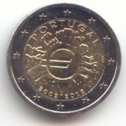 Portugal 2012 2 Euros 10 Años de Circulación del Euro S/C