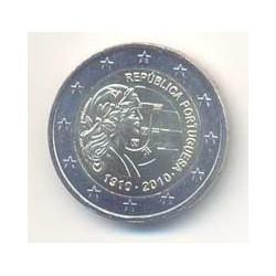 Portugal 2010 2 Euros Centenario de la República S/C