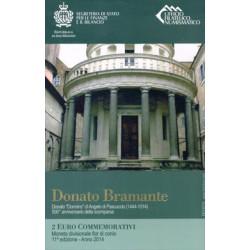 San Marino 2014 2 Euros Donato Bramante S/C