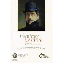 San Marino 2014 2 Euros Giacomo Puccini S/C