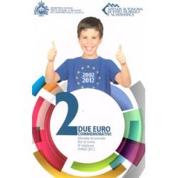San Marino 2012 2 Euros 10º Aniver. de la Circulación del Euro. S/C