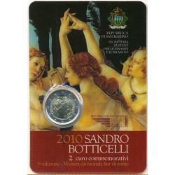 San Marino 2010 2 Euros Sandro Botticelli S/C