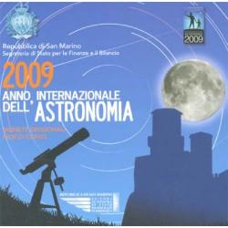 San Marino 2009 Cartera Oficial. 8 monedas y medalla. Astronomía S/C