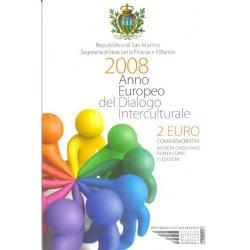 San Marino 2008 2 Euros Año Europeo del Diálogo Intercultural S/C