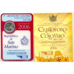 San Marino 2006 2 Euros Colón Cartera Oficial S/C