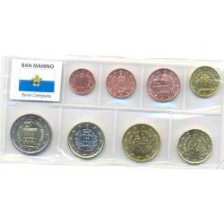 San Marino 2006 - 2010 Serie de 8 valores S/C