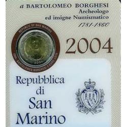 San Marino 2004 2 Euros Bartolomeo Borghesi S/C