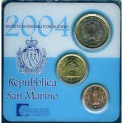San Marino 2004 Cartera Oficial 3 Monedas S/C