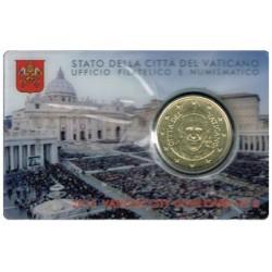Vaticano 2015 50 Céntimos en Blister S/C