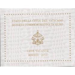 Vaticano 2013 2 Euros Sede Vacante S/C