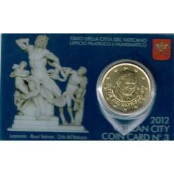 Vaticano 2012 50 Céntimos en Blister S/C