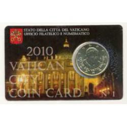 Vaticano 2010 50 Céntimos en Blister S/C