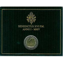 Vaticano 2005 2 Euros Día Mundial de la Juventud S/C