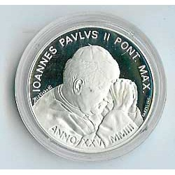 """Vaticano 2003 10 Euros de Plata """"Año del Rosario"""" PROOF"""