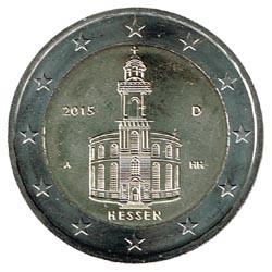 Alemania 2015 2 Euros Ceca A.Iglesia de S.Pablo.Frankfurt. S/C
