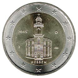 Alemania 2015 2 Euros Ceca J.Iglesia de S.Pablo.Frankfurt. S/C