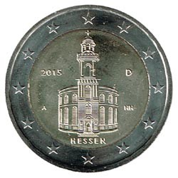 Alemania 2015 2 Euros cualquier Ceca.Iglesia de S.Pablo.Frankfurt. S/C