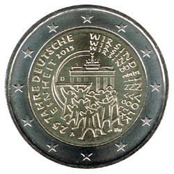 Alemania 2015 2 Euros cualquier Ceca.25º Aniv.Reunificación Alemana S/C