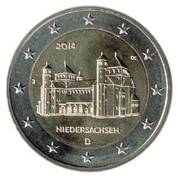 Alemania 2014 2 Euros Ceca J Iglesia de S.Miguel de Hildesheim S/C