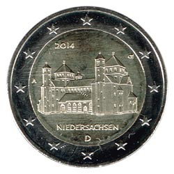 Alemania 2014 2 Euros Iglesia de S.Miguel de Hildesheim cualquier Ceca S/C